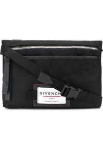 Givenchy Bolsa Carteiro Com Patch De Logo - Preto