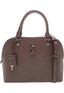 Bolsa Em Couro Com Cadeado- Marrom- 21X28X12Cmarezzo & Co.