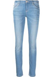 Emporio Armani Calça Jeans Slim J18 Com Efeito Desgastado - Azul