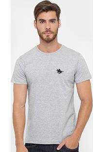Camiseta Rg 518 Básica Bordado - Masculino-Cinza