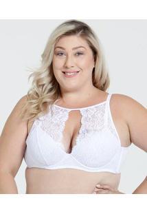 Sutiã Feminino High Neck Renda Plus Size Marisa