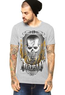 Camiseta Fashion Comics Squad Suicide Cinza