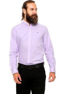 Camisa Lacoste Slim Roxa