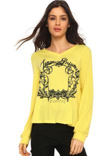Blusa Lança Perfume Canelada Amarela