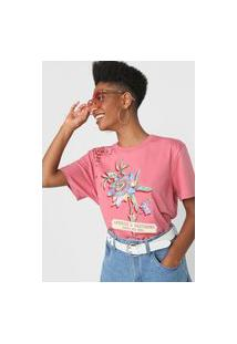 Camiseta Colcci Aprecie A Natureza Rosa