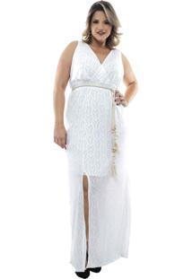 Vestido Saint Yves Longo Liso Malha Trico Predilects Bege