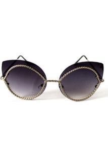 Óculos De Sol Cayo Blanco Fashion Feminino - Feminino-Preto