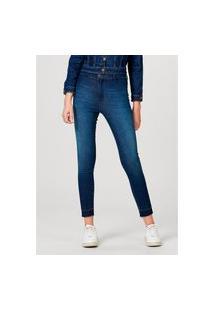Calça Jeans Feminina Modelagem Jegging Sem Costuras Laterais