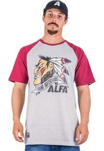 Camiseta Alfa Raglan Indio - Masculino