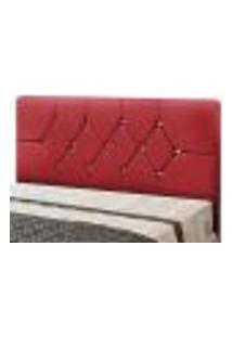 Cabeceira Box Casal França 160 Cm Suede Amassado Vermelho - Js Móveis