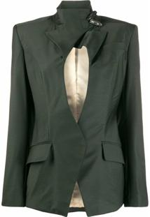 Situationist Blazer Com Fenda - Verde