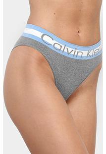 Calcinha Calvin Klein Tanga Sem Costura - Feminino-Mescla