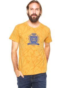 Camiseta Fiveblu Manga Curta Brasil Amarela