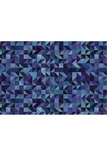 Tapete Transfer Geomã©Trico- Azul Escuro & Verde ÁGuatapetes Junior