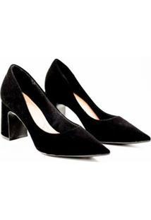 Sapato Bebecê Scarpin Feminino - Feminino-Preto