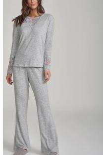Pijama Cor Com Amor 12210 Feminino - Feminino-Mescla