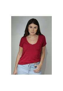 T-Shirt Dona Popi Básica Cereja