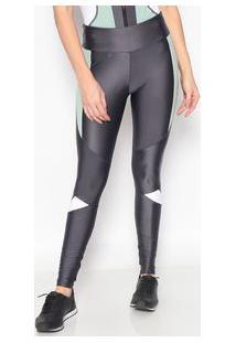 Body For Sure Legging Texturizada Cinza & Verde Claro