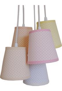 Luminária Pendente Cacho 5 Cúpulas Crie Casa Candy Colors