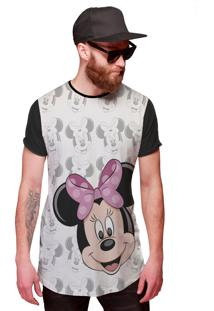 Camisa Longa Minnie Mouse Rostinhos Of Whitte Disney