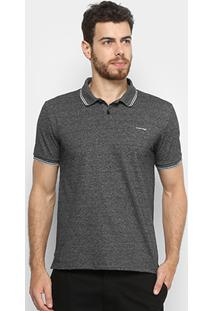 cf27d50f3dc71 ... Camisa Polo Calvin Klein New York Masculina - Masculino-Preto