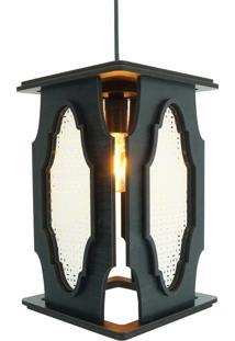 Luminária Pendente Marroquino Crie Casa Preta Grande