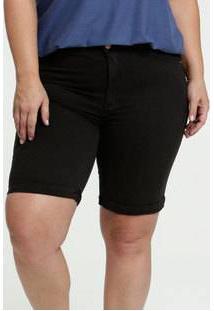 Bermuda Feminina Sarja Barra Dobrada Plus Size