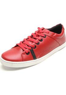 Sapatênis Calvin Klein Liso Vermelho