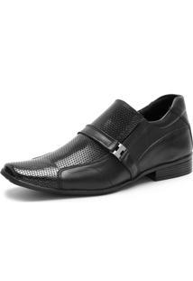 Sapato Social Ded Calçados Elástico Sem Cardaço Preto