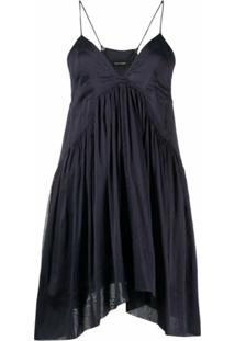 Isabel Marant Vestido Curto Com Alças Finas - Azul