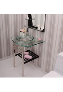 Gabinete Para Banheiro De Vidro Mondrian Astra Gp-M Transparente