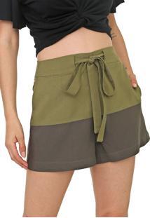 Short Dress To Bicolor Verde