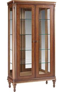Cristaleira Miami Jequitibá 2 Portas Vidro Espelho Iluminação Em Led Bivolt Móveis Armil