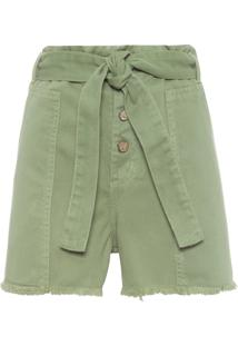 Short Feminino Color Clochard - Verde
