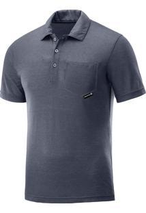 Camisa Salomon Polo Colombo Masculina G Azul