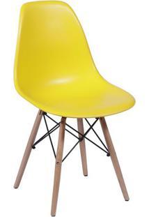 Cadeira Eames Dkr- Amarela & Bege- 80,5X46,5X42Cm