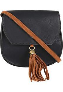 Bolsa Somoda Mini Bag Fechamento Barbicachos - Feminino-Marinho