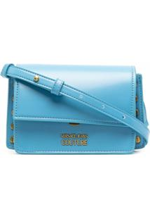Versace Jeans Couture Logo-Charm Cross-Body Bag - Azul