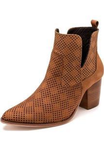 Bota Sandalo Clave De Fa Lee Feminina - Feminino-Caramelo