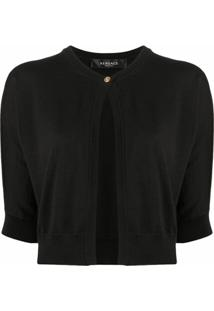 Versace Cardigan Cropped - Preto