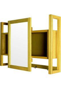 Armario Aereo C/ Espelho Troia Estrutura Amarelo 86Cm - 61430 - Sun House