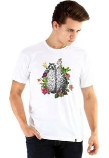Camiseta Ouroboros Manga Curta Cérebro - Masculino-Branco