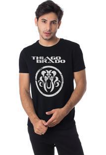 Camiseta Turnê A Jornada Gola Redonda Thiago Brado 1107000008 Preto