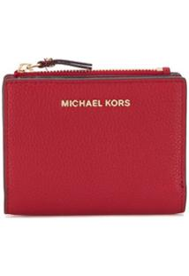 Michael Michael Kors Carteira Com Fecho De Pressão E Logo - Vermelho