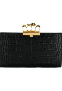 Alexander Mcqueen Skull Four-Ring Flat Pouch - Preto