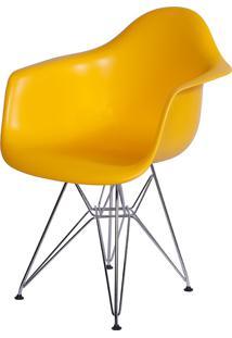 Poltrona Eames Dar C/ Braço Or-1121 – Or Design - Amarelo