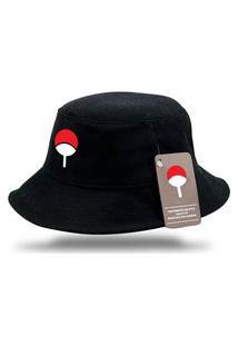 Chapéu Bucket Naruto Clã Uchiha - Preto