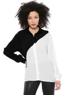 Camisa Forum Bicolor Branca/Preta