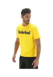 Camiseta Timberland Kennebec Rvr Linear Logo Tee - Masculina - Amarelo