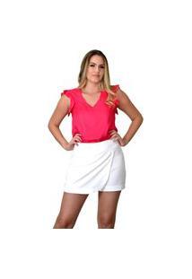 Blusa Plano Lisa Energia Fashion Pink